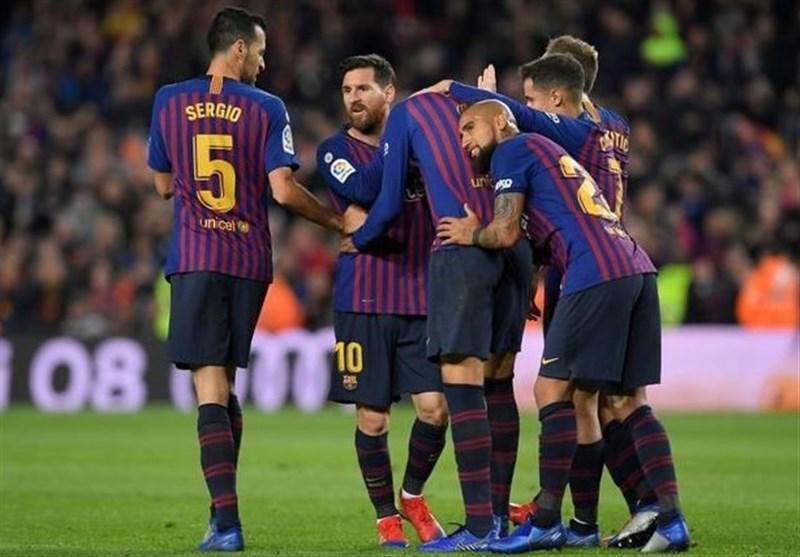 برتری قاطعانه بارسلونا در دربی کاتالونیا با ضربات آزاد استثنایی مسی