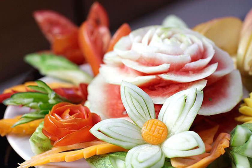 میوه آرایی تایلند؛ هنری سنتی و زیبا