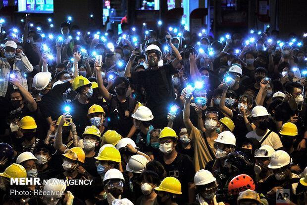 تظاهرات حامیان چین در هنگ کنگ