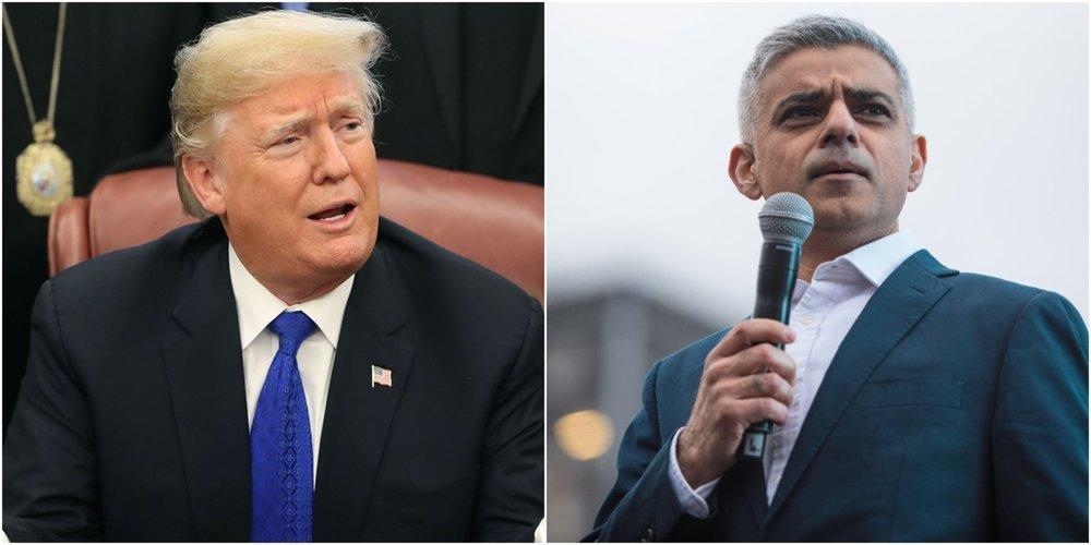 طعنه شهردار لندن ترامپ را خشمگین کرد