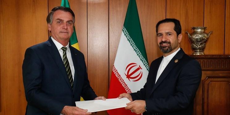 قریبی سفیر جدید ایران استوارنامه خود را تقدیم رئیس جمهور برزیل کرد
