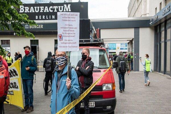 تظاهرات ضد نژادپرستی در برلین برگزار گردید