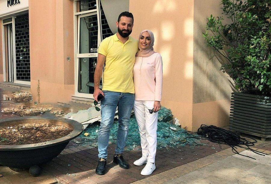 عکس ، عروس بیروت که فیلم عروسی اش در لحظه انفجار جهانی شد