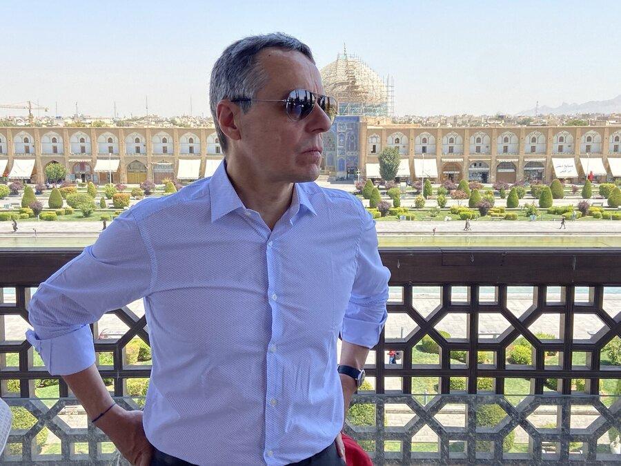تصاویری که وزیر خارجه سوئیس از اصفهان منتشر کرد ، از مروارید خاورمیانه بازدید کردم
