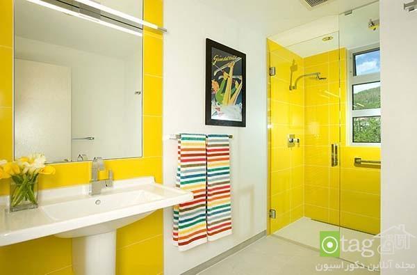 دکوراسیون حمام به رنگ زرد ، استحمام در یک حمام آفتابی