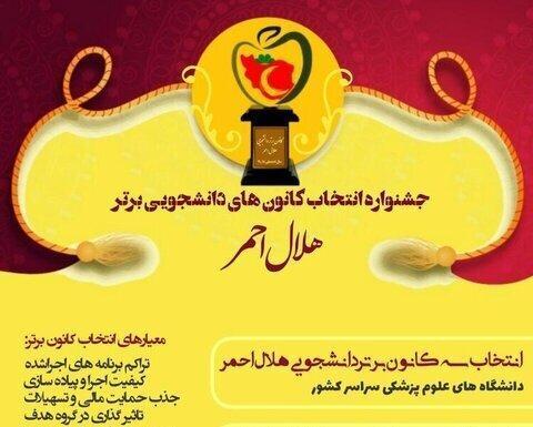 نتایج نهایی جشنواره کانون های دانشجویی برتر هلال احمر اعلام شد