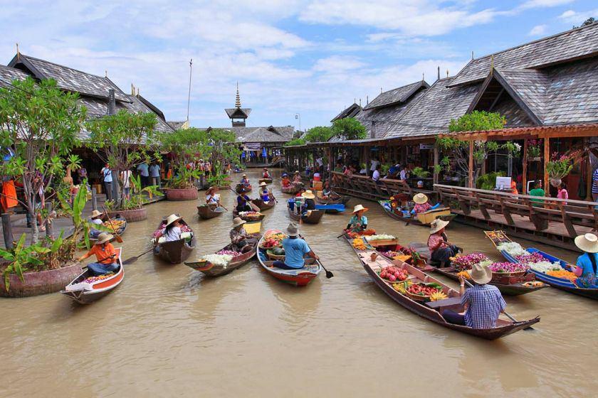 آشنایی با بازارهای شناور تایلند